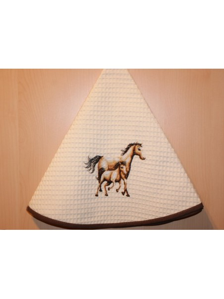 TORCHON ROND CHEVAL