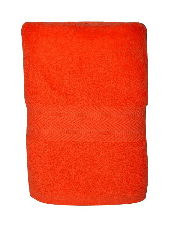 serviette orange 50x100 cm