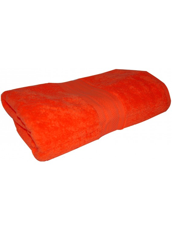 drap de bain orange 70x140 cm