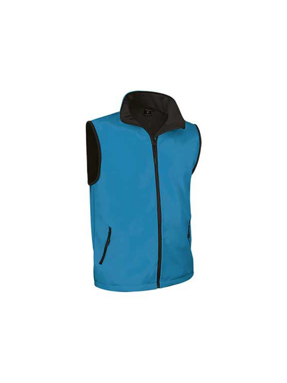 gilet softshell thundra - bleu tropical