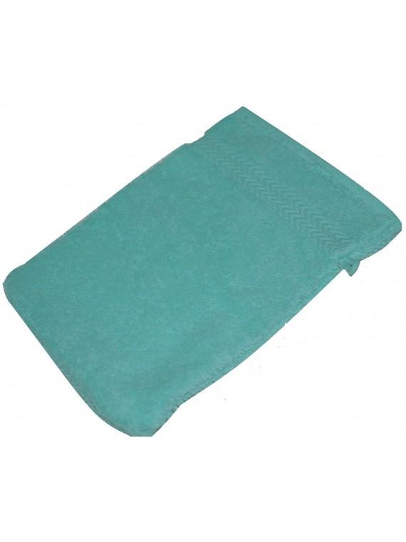 gant de toilette bleu lagon