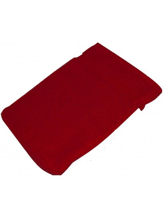 gant de toilette rouge rubis