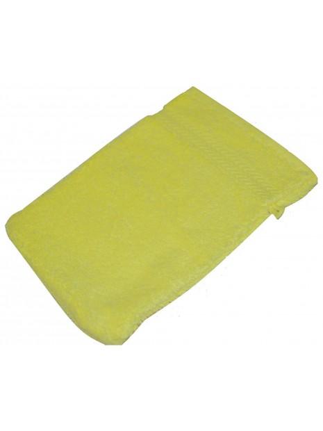 gant de toilette jaune pale