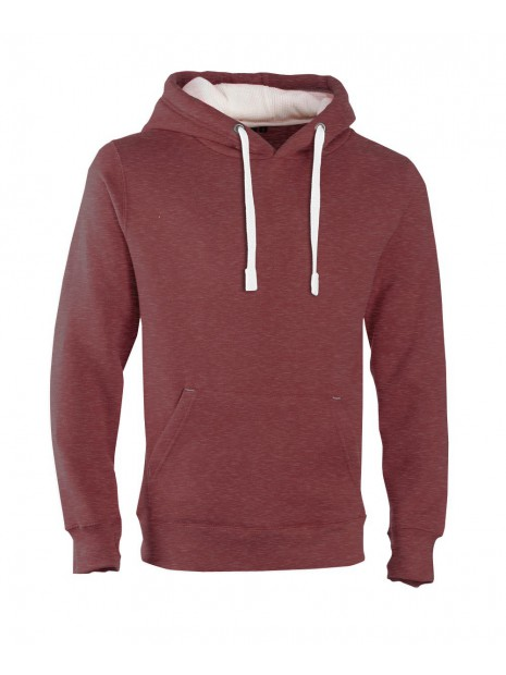 sweat capuche COTTONRIDGE bordeaux melange