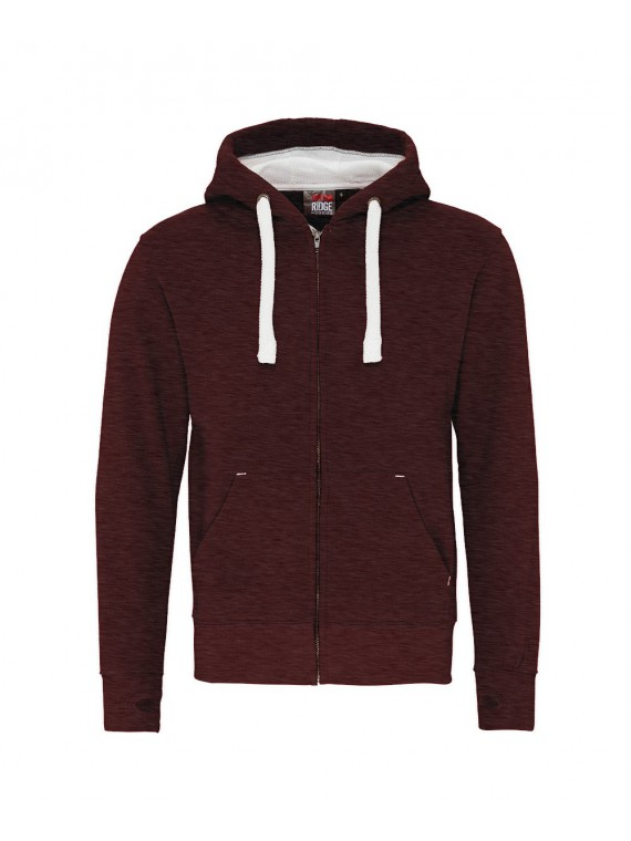 sweat zippé COTTONRIDGE bordeaux melange