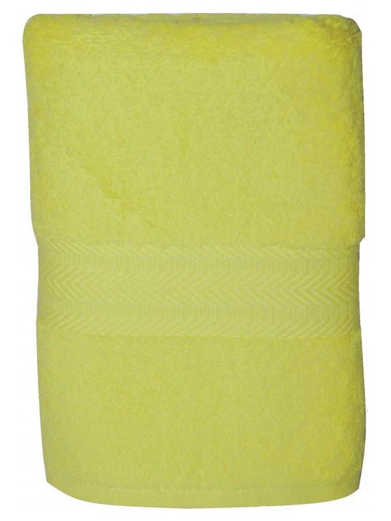 serviette jaune pale 50x100