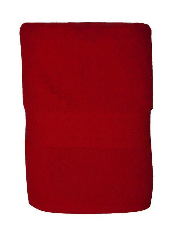serviette rouge rubis 50x100  cm