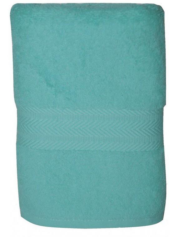 serviette bleu lagon 50x100 cm