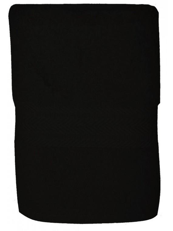 serviette noire 50x100 cm