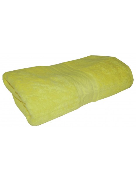 drap de bain jaune pale 70x140 cm