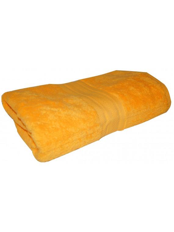 drap de bain jaune bouton d'or 70x140 cm