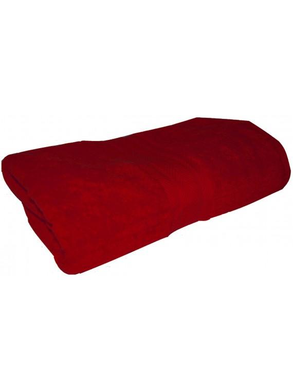 drap de bain rouge rubis 70x140 cm
