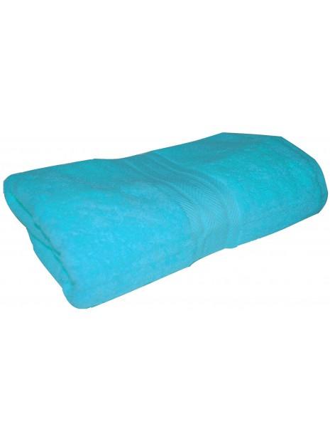 drap de bain bleu turquoise 70x140 cm