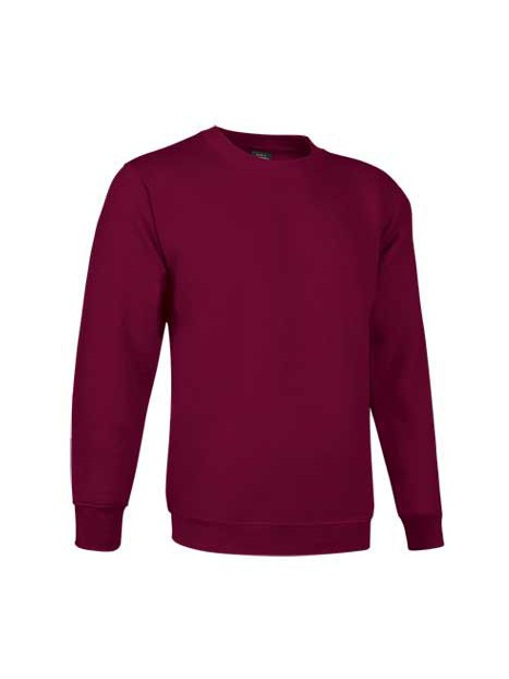 sweat col rond PRIMO bordeaux